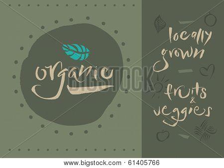 Vegetarian - Organic - Calligraphy