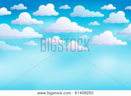 Cloudy sky background 8 - eps10 vector illustration.
