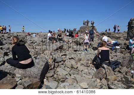 Ben Nevis summit - the highest mountain in the United Kingdom