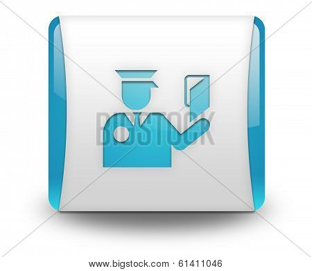 Icon, Button, Pictogram Immigration