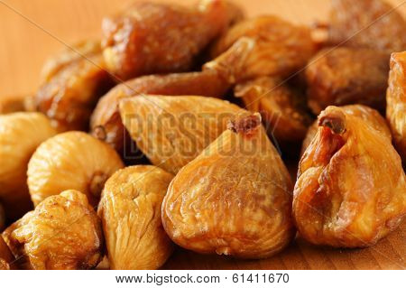 detail of naturally dried figs