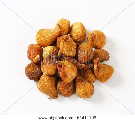 overhead view of dried figs