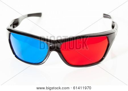 anaglyph 3d glasses, isolated on white