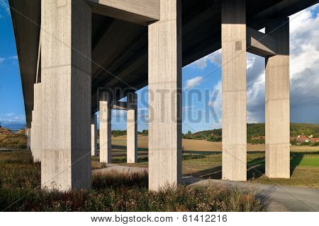 motorway bridge landscape