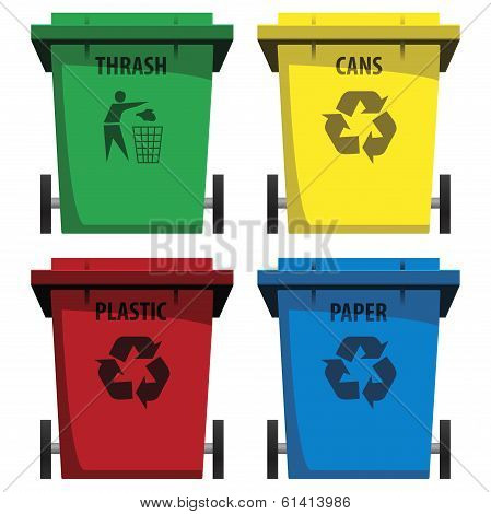 thrash bins