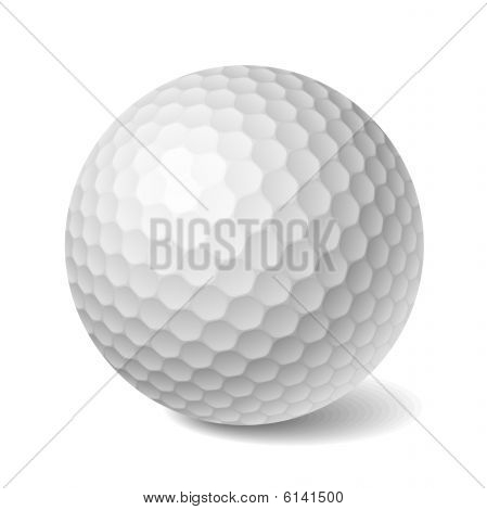 Golf ball. Vector illustration.