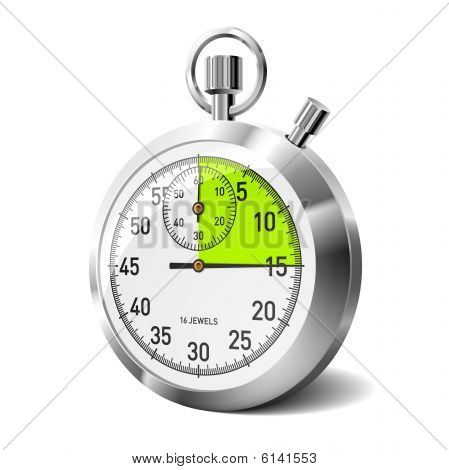 Mechanical stopwatch. Vector illustration.