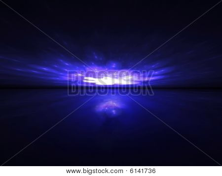 Purple Lights Party - 3D fractal landscape