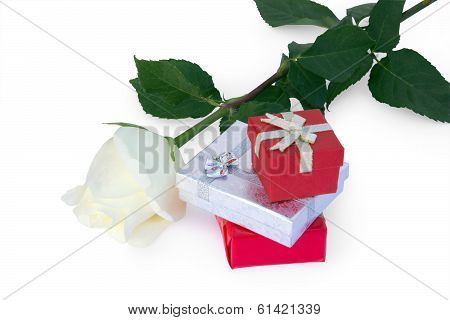 White Rose And Gifts