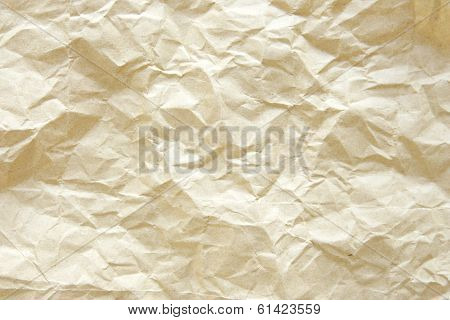 Old Crumpled Paper Bag Texture