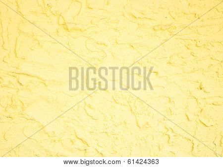 Yellow Handmade Rough Surface Background