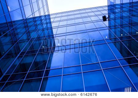 Reflection In Glass Wall