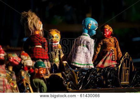 Sundanese Puppets Wayang Golek at Saung Udjo Bandung Indonesia