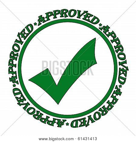 Approved Stamp Green