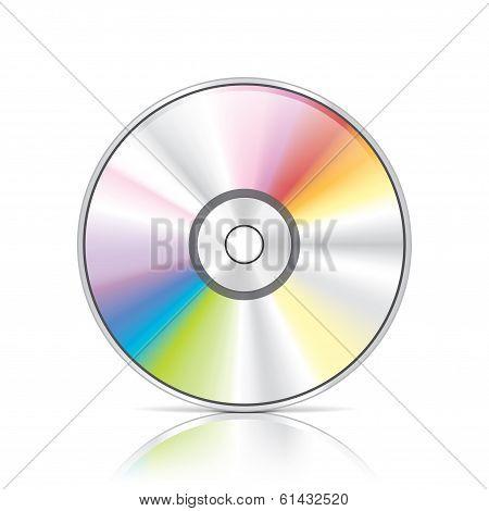 Dvd Or Cd Disc Vector Illustration