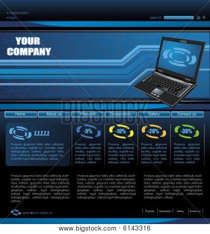 Template of Website