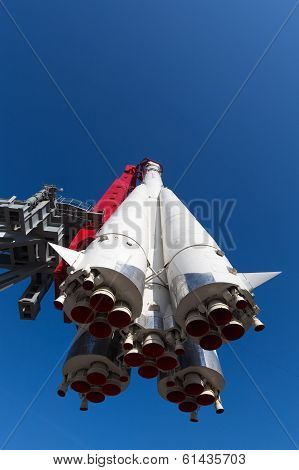 Rocket Vostok Flying In The Sky
