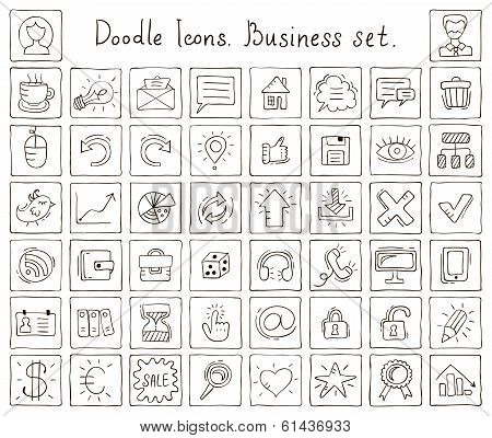 Doodle Icons. Business Set
