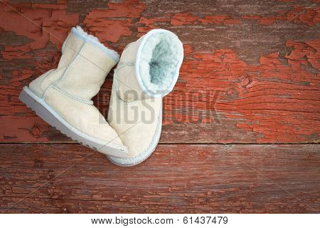 Warm Winter Sheepskin Slippers