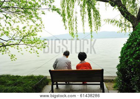 Old Couple Relax