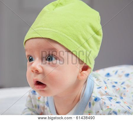 Portrait Of 3 Months Baby Boy