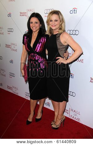 LOS ANGELES - MAR 11:  Julia Louis-Dreyfus, Amy Poehler at the Television Academy's 23rd Hall Of Fame Induction Gala at Beverly Wilshire Hotel on March 11, 2014 in Beverly Hills, CA