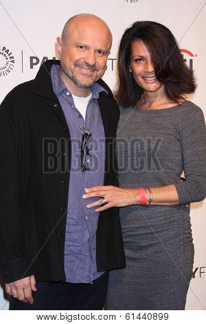 LOS ANGELES - MAR 13:  Enrico Colantoni, wife at the PaleyFEST Vernoica Mars Event at Dolby Theater on March 13, 2014 in Los Angeles, CA