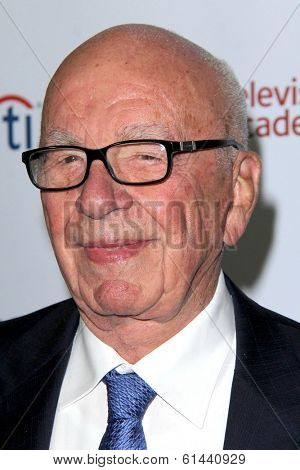 LOS ANGELES - MAR 11:  Rupert Murdoch at the Television Academy's 23rd Hall Of Fame Induction Gala at Beverly Wilshire Hotel on March 11, 2014 in Beverly Hills, CA