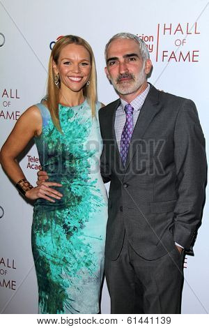 LOS ANGELES - MAR 11:  Lauren Bowles, Patrick Fischler at the Television Academy's 23rd Hall Of Fame Induction Gala at Beverly Wilshire Hotel on March 11, 2014 in Beverly Hills, CA