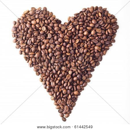 Sight 'Heart' from Coffee beans