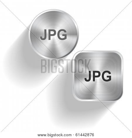 Jpg. Raster set steel buttons