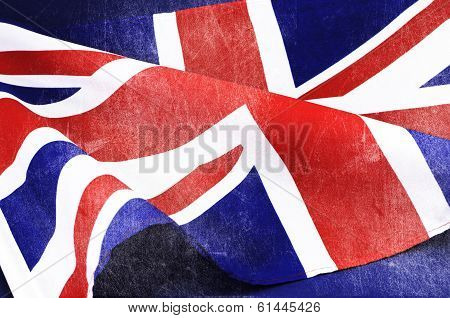 Grunge Distressed Aged Old Union Jack British Flag For D-day 1944, 70Th Anniversary Wwii, Or 100Th A