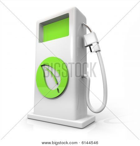 Alternative Fuel Gas Pump - Green Leaf