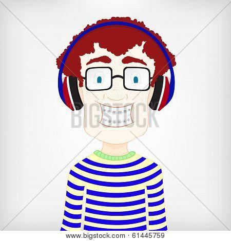 Boy With Headphone