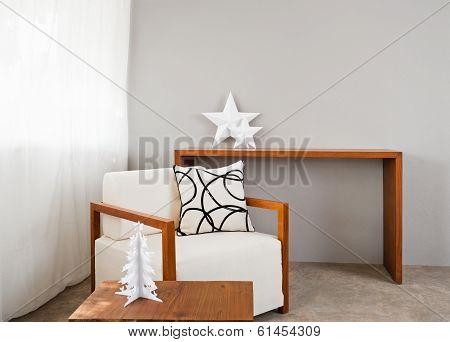 White Comfortable Sofa Seat