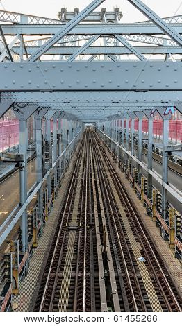 Williamsburg Bridge Subway Tracks