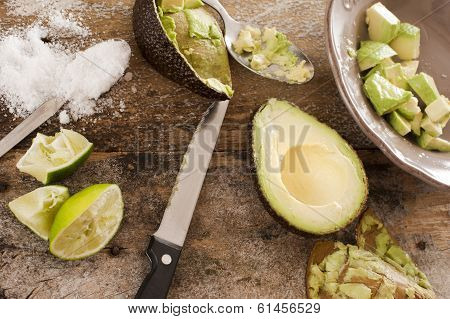 Preparing A Delicious Fresh Avocado Salad