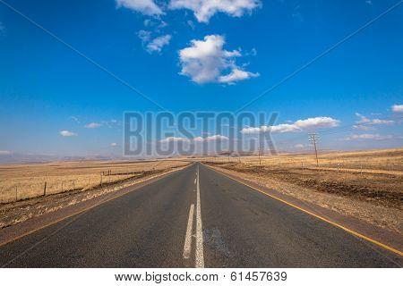 Long Road Flat Landscape Mountains Color Contrasts