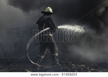 Fighter Fighting Fire