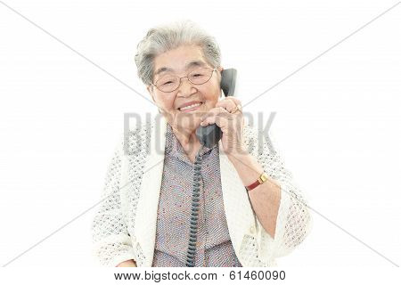 Portrait of beautiful aged woman