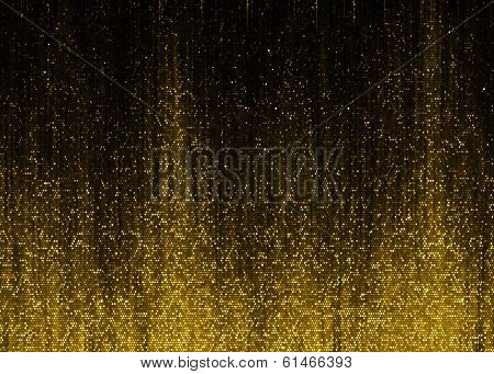 Gold sparkle glitter background.