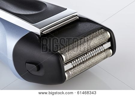 Close Up On A Electric Head Shaver