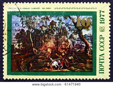 Postage Stamp Russia 1977 Workers In Quarry, By Rubens