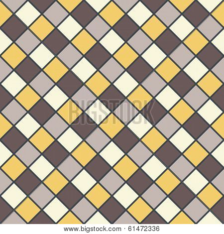 Golden Brown Mosaic Background