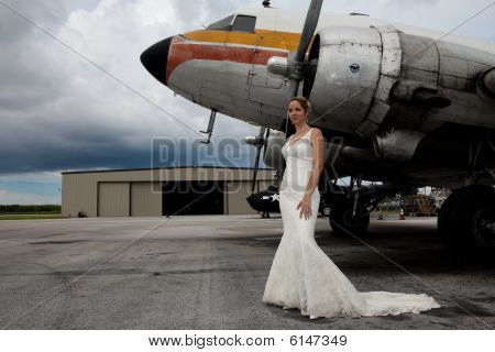 Bride and Plane