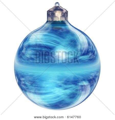 High resolution blue Christmas ornament