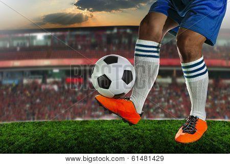 soccer,football players in sport stadium