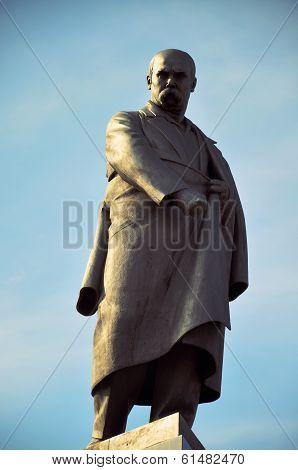 The monument of ukrainian poet