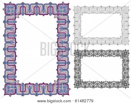ornate geometric border