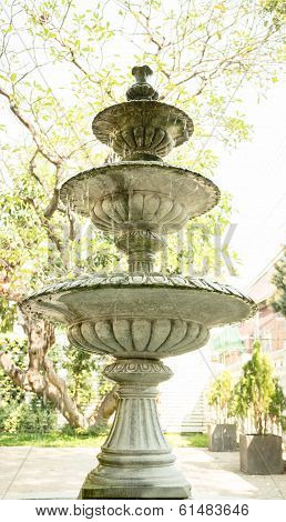 Vintage Fountain In The Park